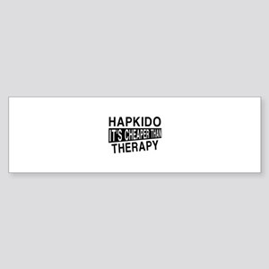 Hapkido It Is Cheaper Than Therap Sticker (Bumper)